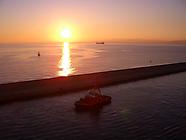 Sonnenuntergang Genua