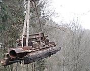 Eine Lambach-Pumpe L-380 am Haken
