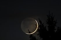 Mond im Erdlicht