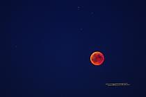 Mondfinsternis mit Flugzeug 2018