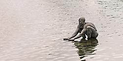 Mann im See