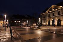 Beleuchteter Weg - Deutsches Tor, Landau