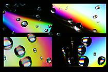 Bunte Tropfen-Collage