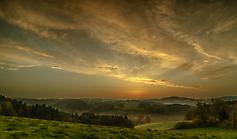 Sonnenaufgang im Oberbergischen